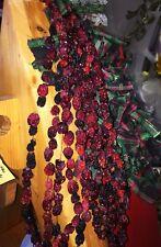 **NEW** Handmade Hand Strung Genuine Dried Cranberry Cranberries Swag Garland