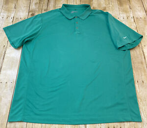Nike Dri Fit Tour Performance Green Short Sleeve Polo Golf Shirt XXXL 3XL