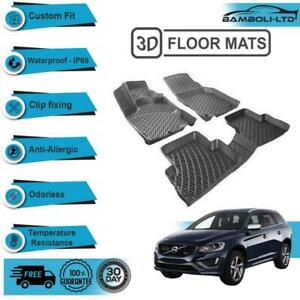 3D Molded Interior Car Floor Mat for Volvo XC60 2009-2017(Black)