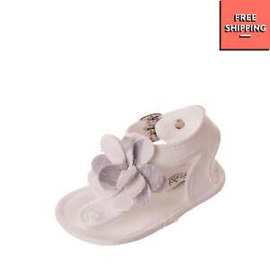 LE BEBE Thong Sandals Size 16 UK 0.5 US 1 Melange Effect Flowers Embellishment