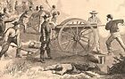 Antietam Civil War 1862 First Maryland battlefield view nice historical print