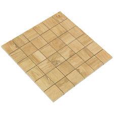 Legend Honey Mosaik 4,8x4,8 cm, Feinsteinzeug, Fliesen in Holzoptik, beige