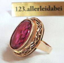 Russischer Spinell Ring 583 Rotgold Rubin farben 583 Gold  / AK 700