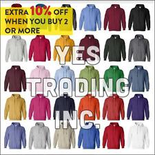 Mens Heavy Zipper Zip Hood Hoodie Solid Plain Blank Pockets Sweatshirt