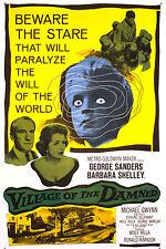 Framed Retro Movie Poster – Village of the Damned 1960 (Replica Print Film Art)