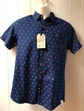 NWT $50 Free Planet Short Sleeve Flamingos Men's Casual Shirt Size S