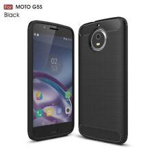 Motorola Moto G5s TPU Case Carbon Fiber Optik Skin Brushed Muster Hülle Schwarz