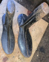 Vtg Cast Iron Cobbler Shoe Form Primitive Farmhouse Decoration/Beautiful Patina