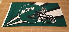 Official Vintage New York Jets 3ft X 5ft Team Flag by Emerson USA ~ Brand New!