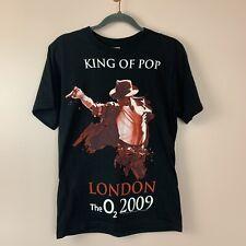 Michael Jackson King Of Pop The O2 London 2009 Tour Tshirt Small Black
