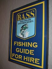 Bass Tackle Fishing Guide Lure Bait Shop Framed Advertising Print Man Cave Sign