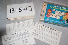 New Math Flash Cards, Addition & Subtraction 1965 Vintage Usa Milton Bradley