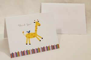 *Lot of 2* Roobee 12 Count Giraffe Top-Fold Blank Thank You Cards