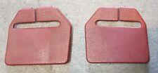90-92 Mustang OEM Red Rear Seat Belt Bezels Pair Hatch GT LX 5.0 1990 1991 1992