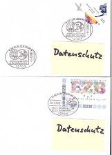 BRD 2 Briefe 2048, 2000 Euroeinführung, DM-Abschied, Berlin 1.1.02 und 28.2.02