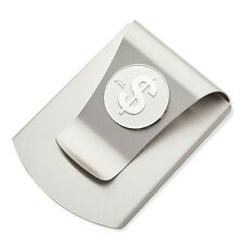 Storus Smart Money Clip with $ SIgn Medallion-Titanium Finish/Silver