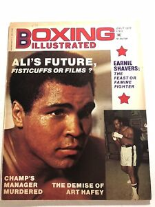 1977 Boxing Illustrated MUHAMMAD ALI Ernie SHAVERS No Label FISTICUFFS OR FILMS?