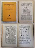 Münch Die Stoffbewegung in der Pflanze 1930 Stoffwechsel Biologie Metabolismus