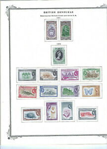 BRITISH HONDURAS-COLLECTION-QE2 -LATER-M HINGED AND USED-SETS-BETTER-