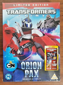 NEW Transformers Prime Season 2 Vol 1 Orion Pax Limited Edition DVD CARDS TOY