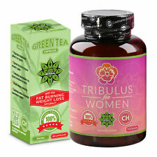 80 Caps Green Tea 120 Caps Women Tribulus Terrestris Fat Loss Energy Boost