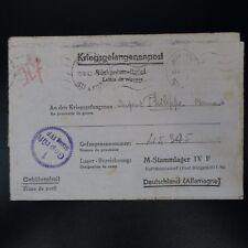 LETTRE PRISONNIER DE GUERRE RENNES  -> STALAG IV F KRIEGSGEFANGENENPOST POW