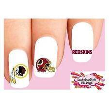 Waterslide Nail Decals Set of 20 - Washington Redskins Football Assorted