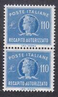 Italy 1977 - Concessional Letter Post - 110L Blue Pair - SG CL919 - MNH (D23D)