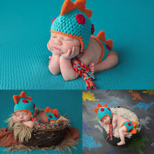 Baby Boy Dinosaur Outfit Newborn Photography Props Knit Infant Infant Accessorie