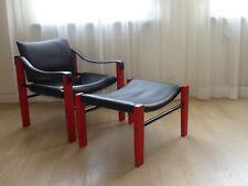 Safari lounge chair + Ottomane Sessel Maurice Burke für Arkana Mid century 60er