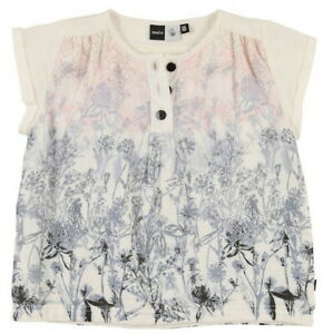 New Girls MOLO 5-6 yr Rooma blouse top white floral print 110-116 European