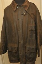 "BARBOUR SOLWAY HEAVY WAX COTTON JACKET DARK OLIVE 46"" / 117 CM VINTAGE"