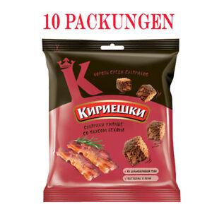 Brotchips Kirieschki mit Bacon-Geschmack 10 Packungen croutons