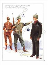 PLANCHE UNIFORM PRINT WWII USA infantry US ARMY Military Police IIIe Corps 1945