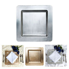 "24pcs 11.5"" x 11.5"" Square Rimmed Charger Plates Dinner Chargers For Weddings"
