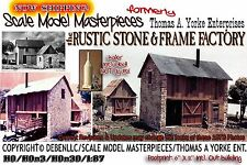 the Rustic Stone & Frame Factory Kit Scale Model Masterpieces/Yorke Fine HOn3