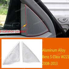 Alloy A Pillar Tweeter Speaker Trim Fit For Mercedes Benz S Class W221 2008-2013