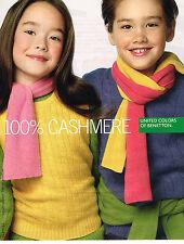 PUBLICITE ADVERTISING 094  2009  UNITED COLORS OF BENETTON  pulls enfants cashme