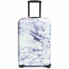 Fabric Suitcase Cover with Marble Design in Size Medium