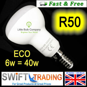 R50 LED Light Bulbs 6W E14 Spot Reflector Lighting ~ Light Bulb Energy Rating A+