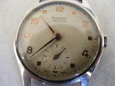 1940s ROTARY MAXIMUS GENTS WATCH 15 JEWELS NEEDS MAINSPRING