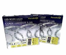 Paradise LED Rope Light w/Remote Out Door Home & Garden Lighting 18ft Lot Of 2