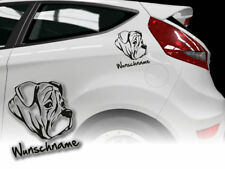 Aufkleber Olde English Bulldogge   H316 Wunschname Auto