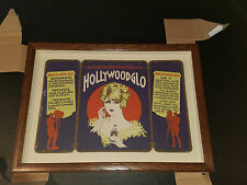 Antique Hollywood Glo Advertising Sign Drugstore Pharmacy Barber Beauty Shop