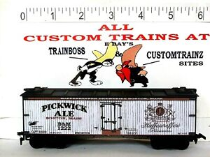 HO CUSTOM LETTERED PICKWICK ALE BEER FREIGHT CAR COLLECTIBLE REEFER LOT E