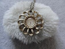 Endura Necklace Pendant Watch Vintage Wind Up Swiss Made