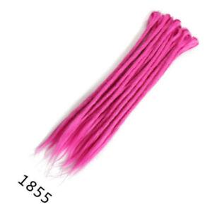 "5pcs 20""24""Afro Dreadlocks Synthetic Twist Crochet Braid Dreads Hair Extensions"