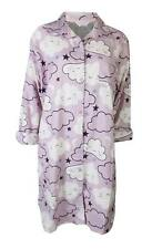 Ex Marks And Spencer M&S Lilac Cloud Brushed Cotton Nightshirt Nightie 8-20 NEW