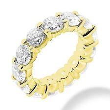 5.71 ct Round Diamond Eternity Ring 14k Yellow Gold Band 14 x 0.40-0.41 ct H Si1