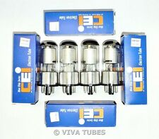 NIB NOS Matched Quad (4) CEI Fivre Italy 6SK7GT Silver Plate  Vacuum Tubes